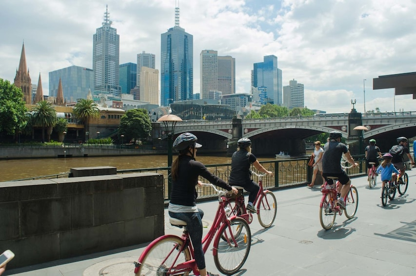 Show item 4 of 8. Group city bike tour in Melbourne