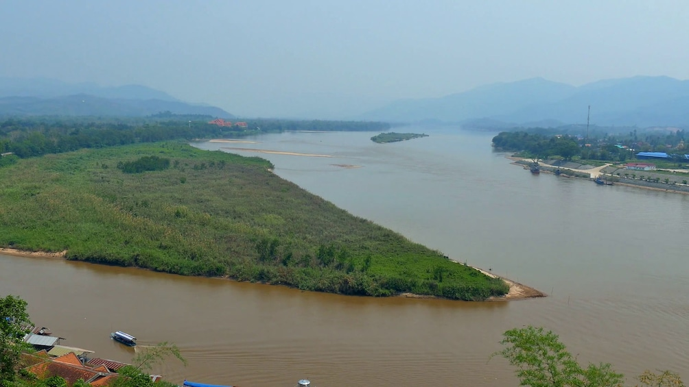 Show item 2 of 10. Day view over the Mekong River
