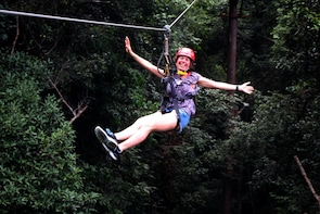 Zip line + Malay Gastronomic Experience + Swim at Waterfalls