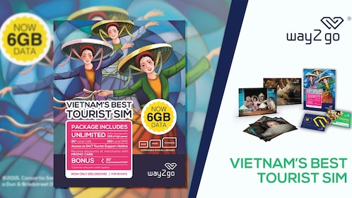 Unlimited Data SIM Card (Airport/Hotel Delivery in Saigon)