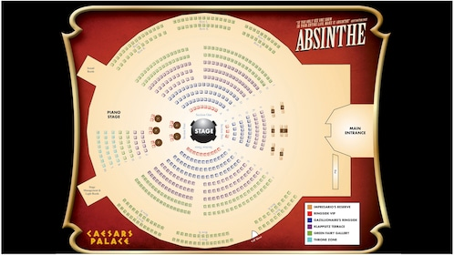 Seating Chart for Absinthe