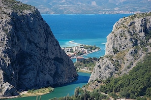 Omis and Cetina from Makarska