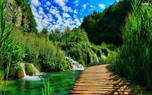 National Park Plitvice Lakes from Sibenik