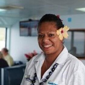 Cruise boat staff member