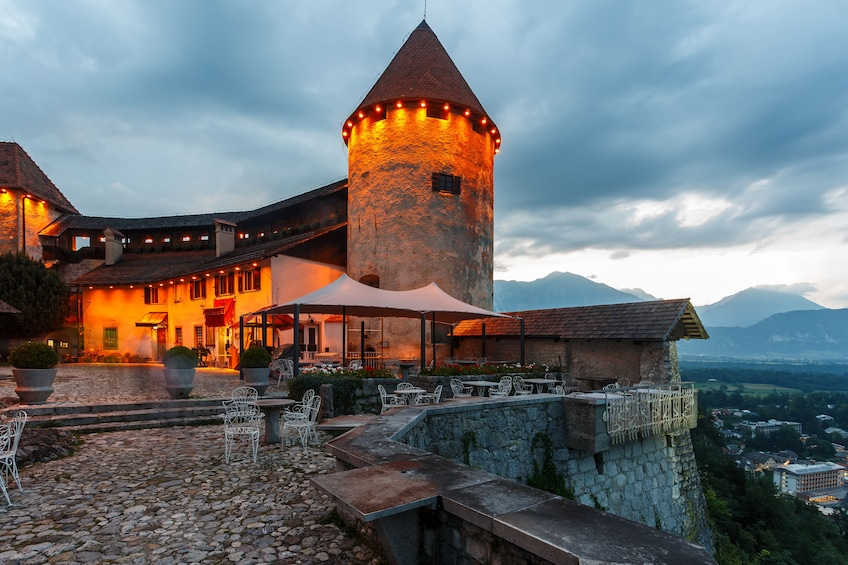 Show item 2 of 4. Bled Castle in Bled. Slovenia at night
