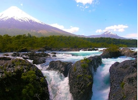 Osorno Volcano & Petrohue Waterfalls from Puerto Varas