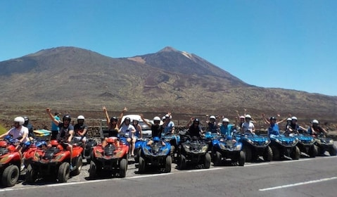 Group on a family friendly quad tour to Las Cañadas del Teide