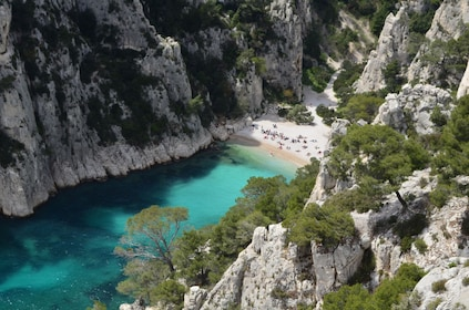 Aerial day view of Cassis beach
