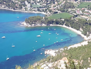 Aerial view of the boats in Cassis