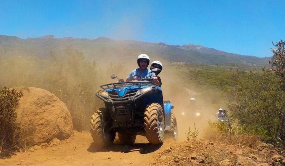Group on a quad tour from Playa de Las Americas