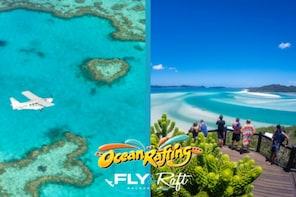 Whitsunday Scenic Flight & Ocean Rafting Package