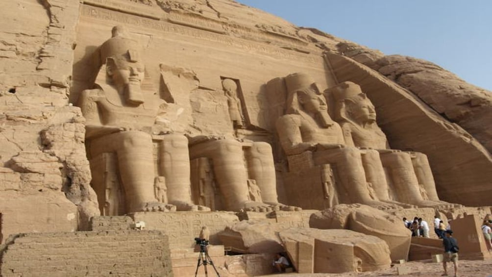 Show item 2 of 6. Seated statues of Abu Simbel Temples in Aswan, Egypt