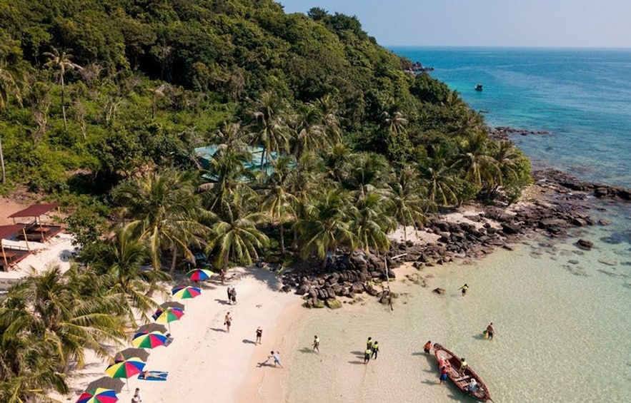 Show item 4 of 5. Aerial view of visitors on Phu Quoc Island