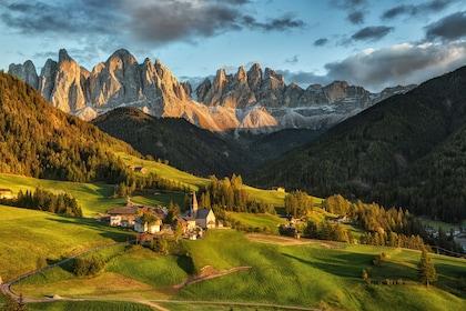 Gorgeous panoramic views of the Dolomites mountains