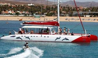 Catamaran sailing experience from Caleta de Fuste