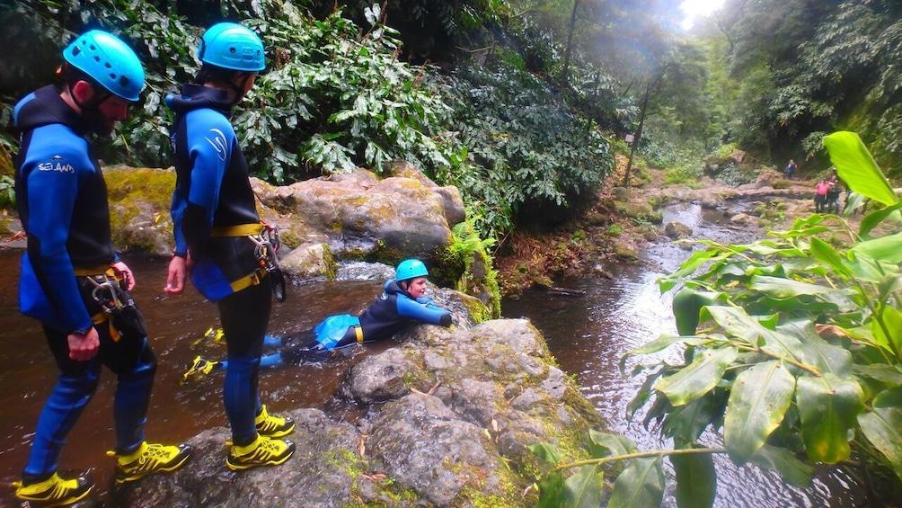 Canyoning at Ribeira dos Caldeirões - Nordeste (Half Day)