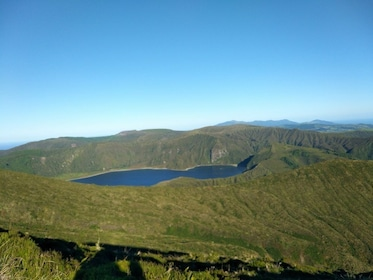 Lagoa do Fogo crater lake in Portugal