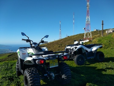 Pair of ATVs on a hill in Portugal