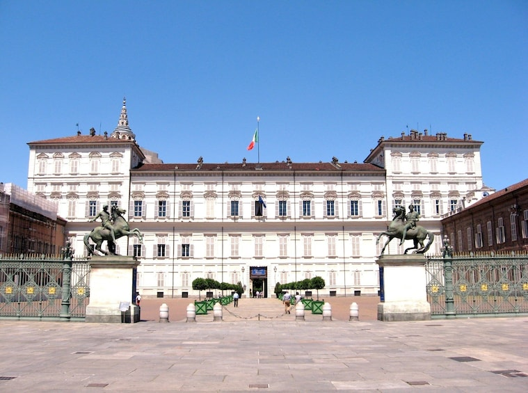 Show item 3 of 3. The Royal Palace of Turin on a sunny day