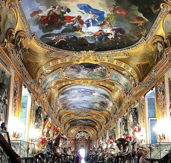 Show item 2 of 3. Painted ceiling of the Royal Armory of Turin