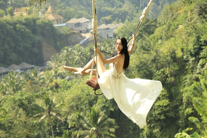 Woman on a Bali Swing on a sunny day