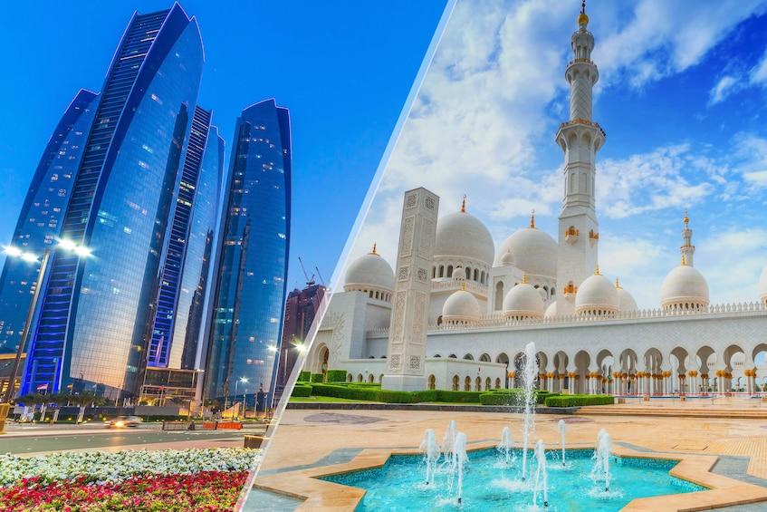 Mosque and Etihad combo image