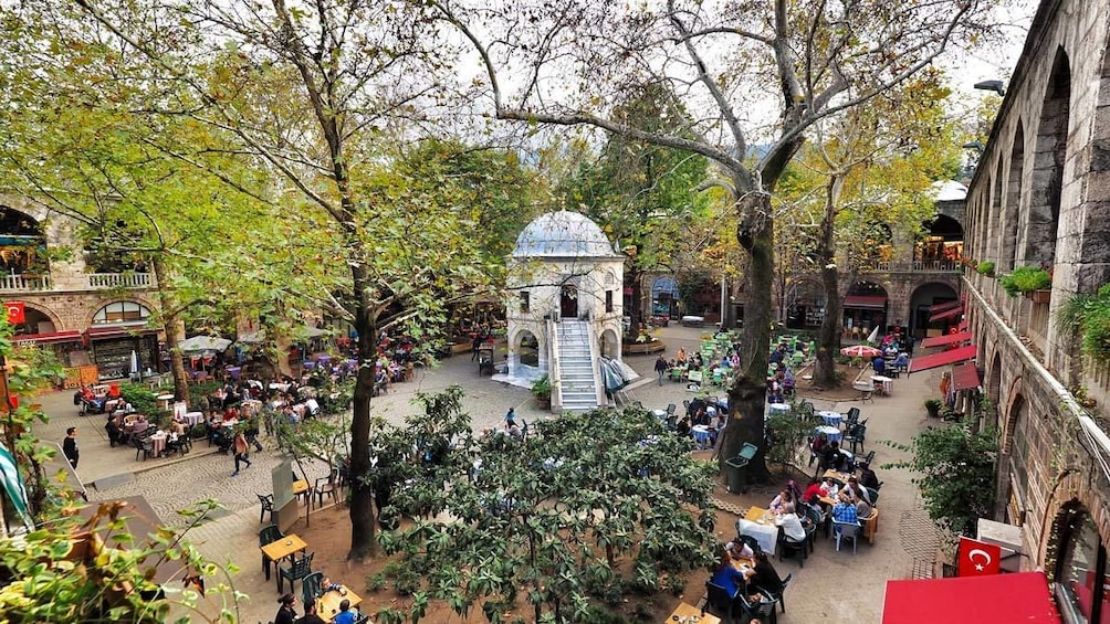 Outside dining areas in Bursa