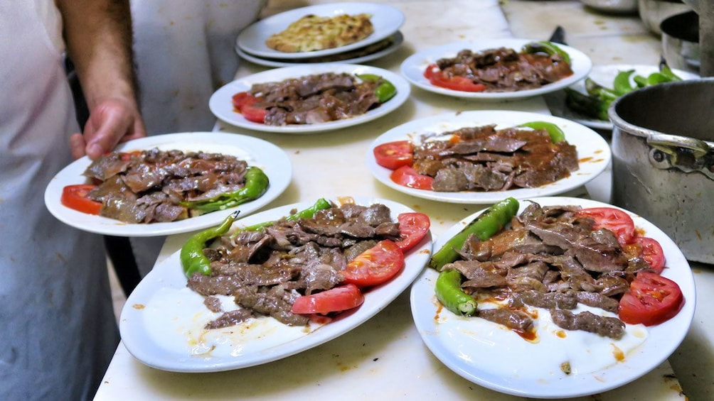 Lunch dishes in Bursa