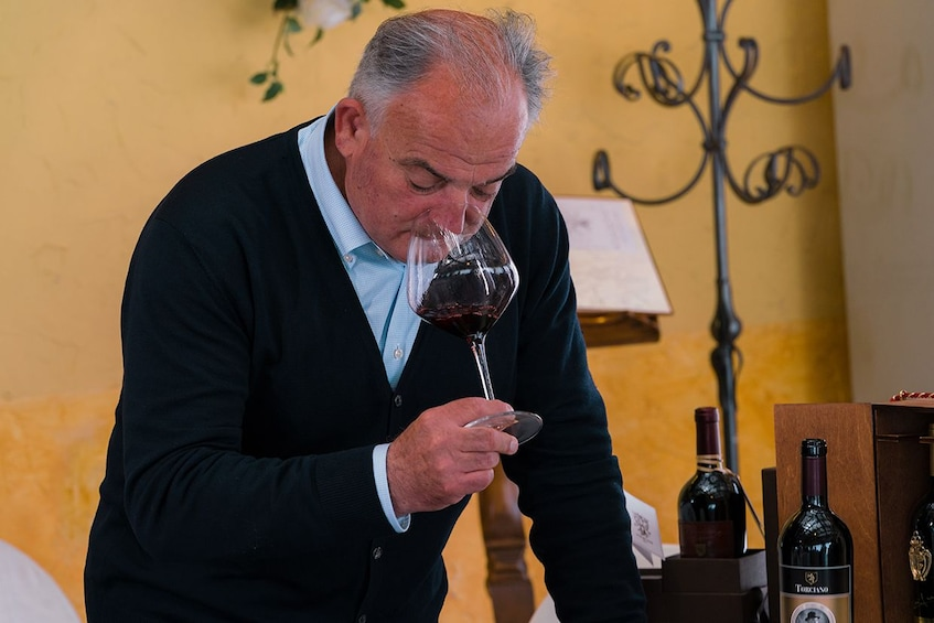 Show item 1 of 10. Winemaker Winetasting with Lunch in San Gimignano