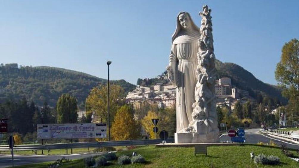 Show item 1 of 10. Statue of St. Rita in Cascia, Italy