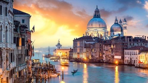 Sunset views of Venice