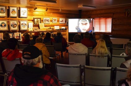 Guests watching a video in Talkeetna