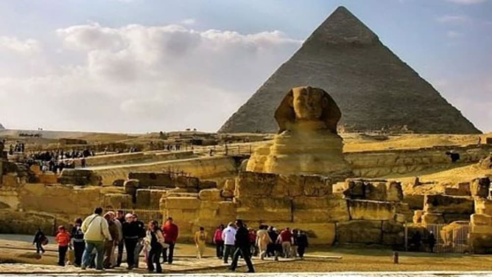 Sphynx and Pyramids of Giza in Egypt