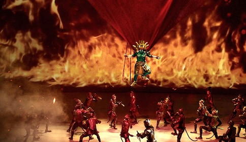 Stage view of the Kaan Show in Pattaya City at the Singha D'luck Cinematic Theatre