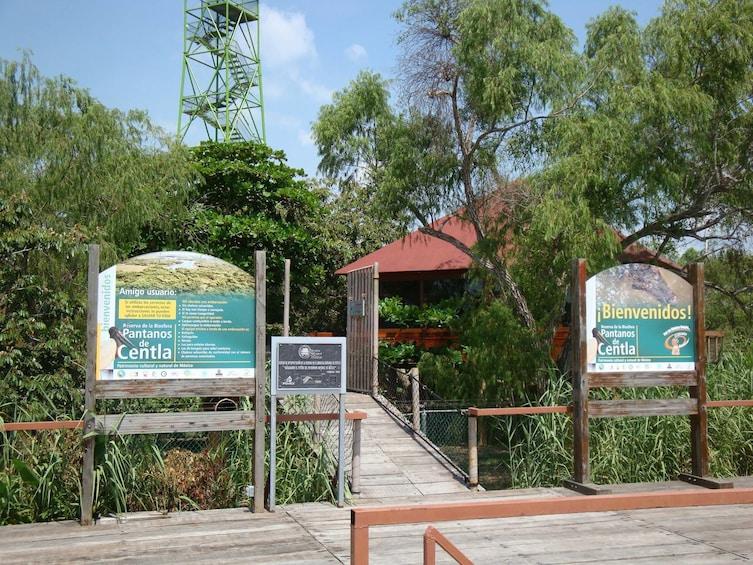 Show item 1 of 6. Entrance to Pantanos de Centla in Tabasco, Mexico
