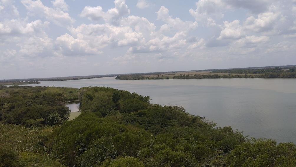 Show item 4 of 6. Wetlands and Usumacinta River in Pantanos de Centla in Tabasco, Mexico