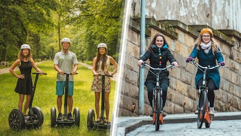Prague combi e-scooter and segway tour with private option
