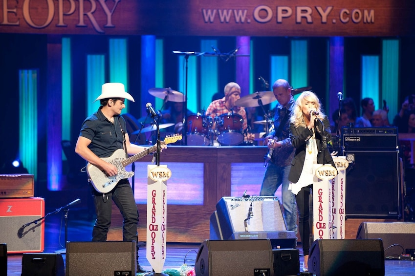 Show item 3 of 7. Performance at the Grand Ole Opry in Nashville