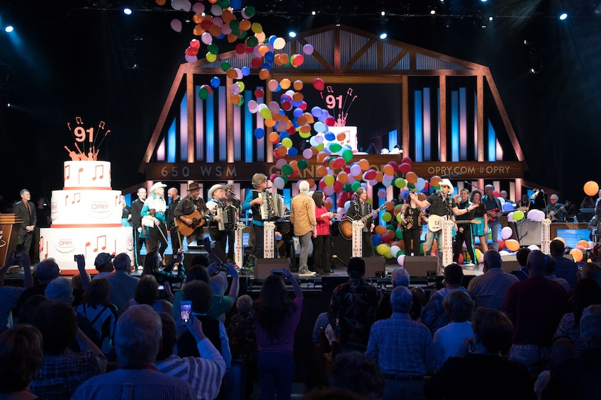 Show item 2 of 7. Performance at the Grand Ole Opry in Nashville