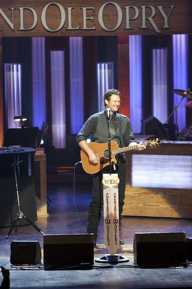 Show item 7 of 7. Blake Shelton performing at the Grand Ole Opry in Nashville