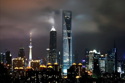 Night view of the Shanghai World Financial Center