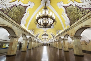 Underground Palaces of Moscow Metro and Arbat Street