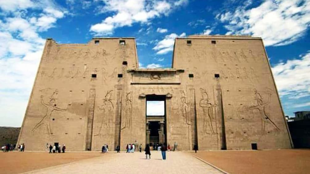 Show item 2 of 7. The Temple of Horus at Edfu on a sunny day