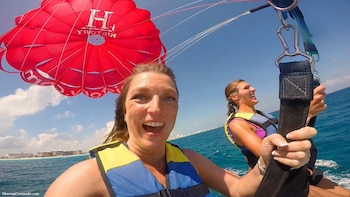Five Adventures: Parasailing, Snorkel Cruise, Sharks & Rays
