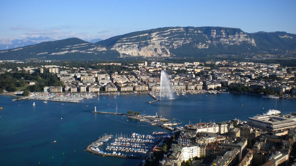 Aerial view of Lake Geneva