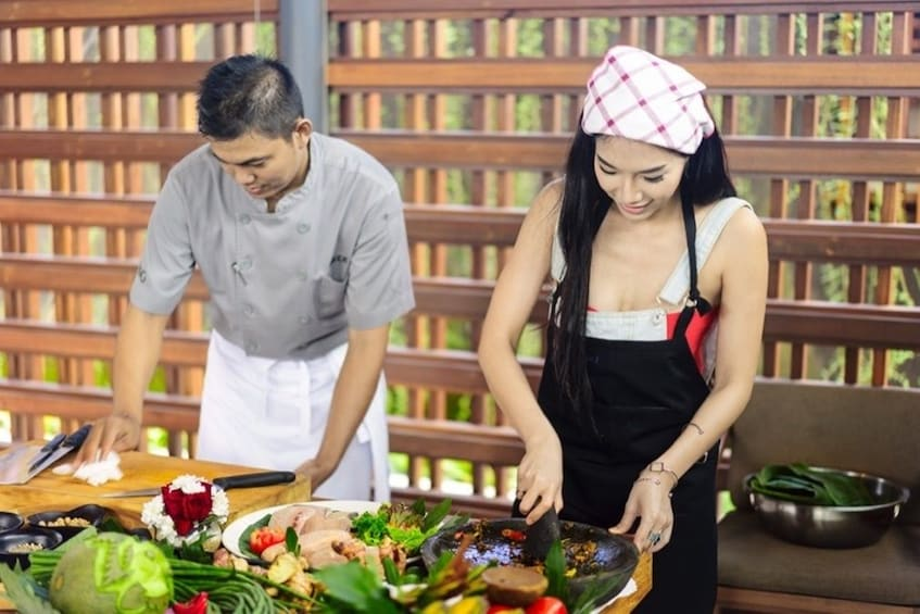 Show item 1 of 3. Private Balinese Cooking Class at The Santai