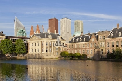 View of The Hague over the river on a sunny day