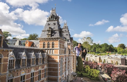 Tourists walk through Madurodam Park in Hague, Netherlands