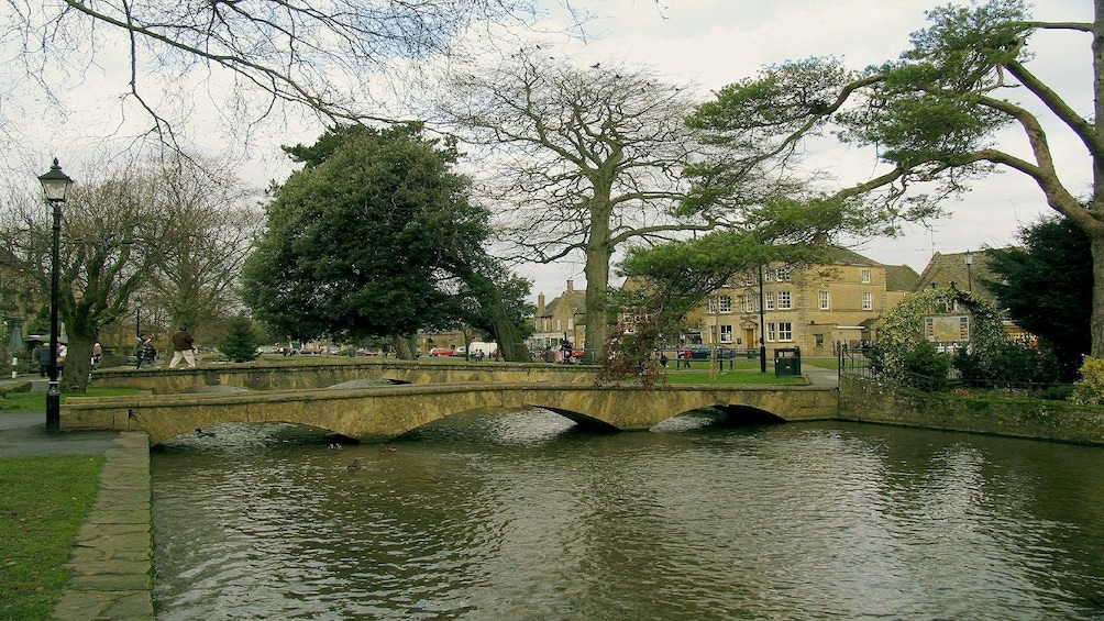 Day view of a bridge in Cotswolds