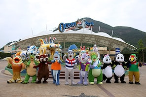 Combo: Hong Kong Ocean Park Ticket with Round Trip Transfer